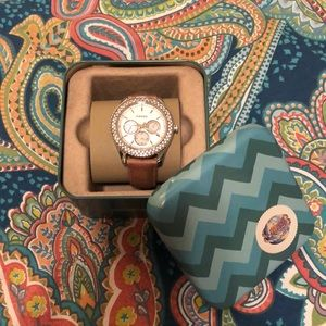 Fossil Watch with additional leather strap